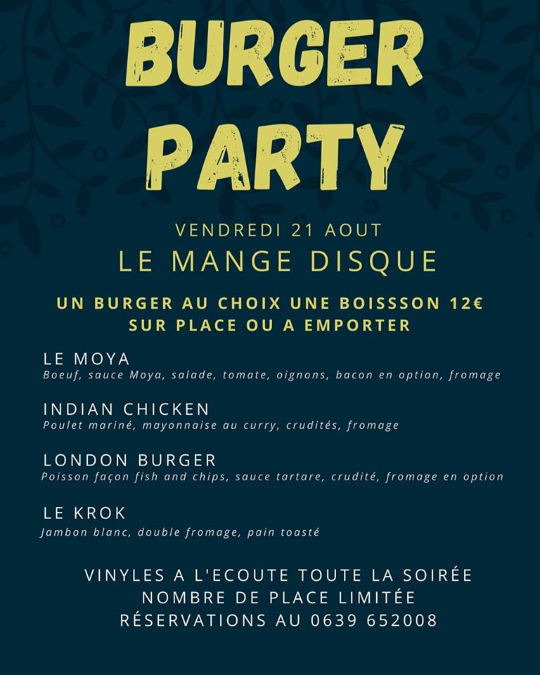 Le Moya Burger Party